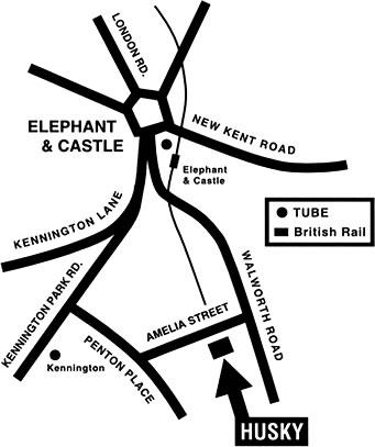 Husky Rehearsal Rooms & Dance Studios Map